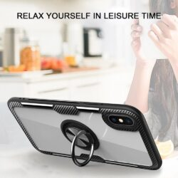 Forcell CARBON CLEAR RING Case for IPHONE 11 balck