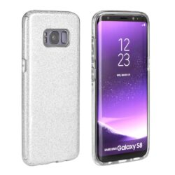 Forcell SHINING Case for SAMSUNG Galaxy A51 silver