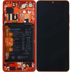 LCD screen Huawei P30 PRO with touch screen and frame red (Amber Sunrise) original (used Grade B)