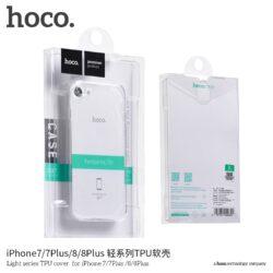 "Case ""Hoco Light Series TPU"" Apple iPhone X transparent black"