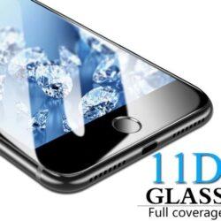 """Screen protection glass """"11D Full Glue"""" Xiaomi Redmi Note 8 black bulk"""