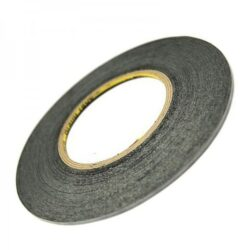 Double side adhesive tape for touchscreens 2mm black