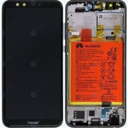 Ekraan Huawei Honor 9 Lite with touch screen with frame and battery black original (service pack)