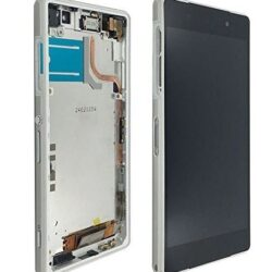 LCD screen Sony D6502 / D6503 Xperia Z2 with touch screen and frame white original (used Grade A)