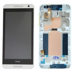 LCD screen HTC Desire 610 with touch screen and frame white original (service pack)