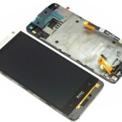 LCD screen  HTC One Mini (M4) with touch screen and frame silver original (service pack)
