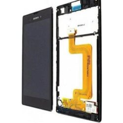 LCD screen Sony D5103 Xperia T3 with touch screen and frame black original (service pack)
