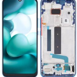 Ekraan Xiaomi Mi 10 Lite 5G with touch screen with frame Aurora Blue original (service pack)