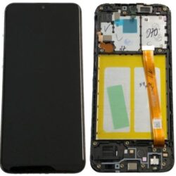 Ekraan Samsung  A202 A20e 2019 with touch screen and frame black original (used Grade A)